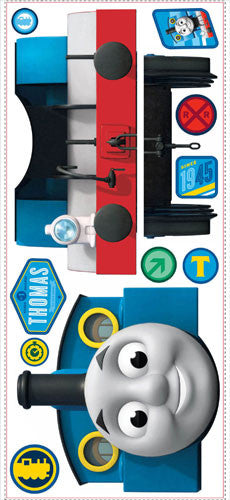 Thomas the Tank Engine Peel & Stick Giant Wall Decal with Hooks (RMK1832GM)
