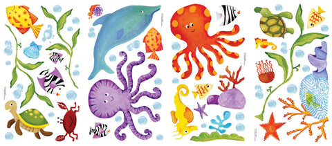 Adventures Under the Sea Peel & Stick Wall Decals (RMK1851SCS) - Peazz Toys