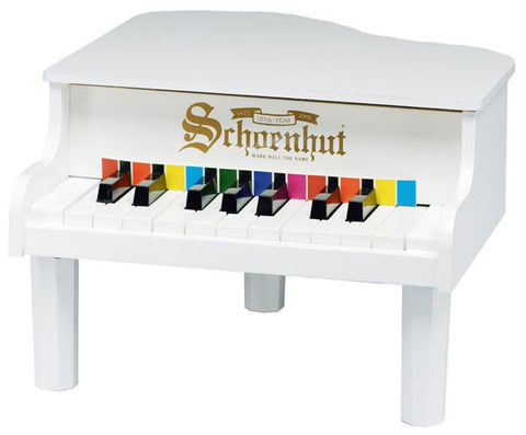 Schoenhut 18 Key Mini Grand Child Piano White 189W - Peazz Toys