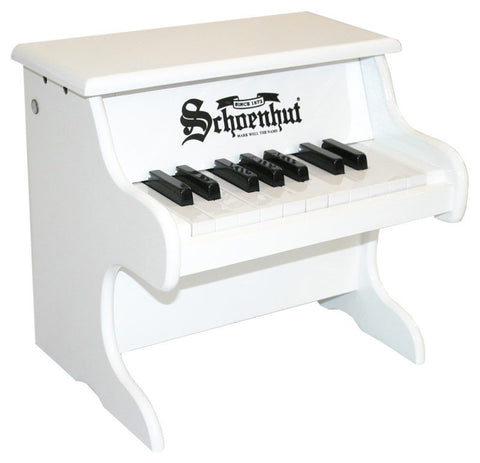 Schoenhut 18 Key My First Piano - White 1822W - Peazz Toys
