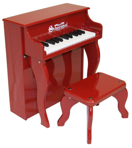 Schoenhut 25 Key Elite Spinet Upright Piano - Red 2505R - Peazz Toys