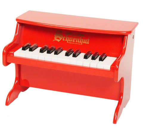 Schoenhut 25 Key My First Piano II - Red 2522R - Peazz Toys