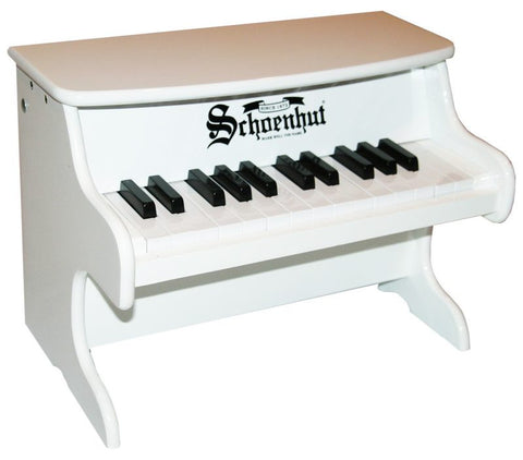 Schoenhut 25 Key My First Piano II - White 2522W - Peazz Toys
