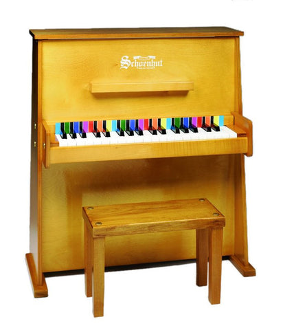 Schoenhut 37 Key Day Care Durable Upright Piano - Oak 3798O - Peazz Toys