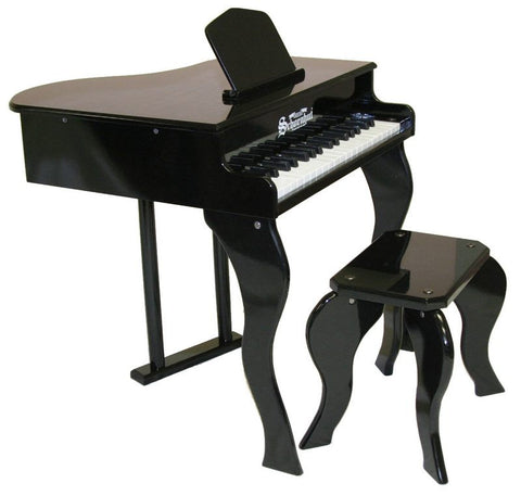 Schoenhut 37 Key Elite Baby Grand Piano - Black 372B - Peazz Toys