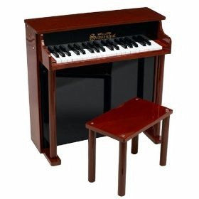 Schoenhut 37 Key Traditional Deluxe Spinet Upright Piano 6637MB - Peazz Toys