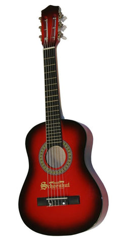 Schoenhut 6 String Guitar w/ Metal Strings - Red/Black 605RB - Peazz Toys