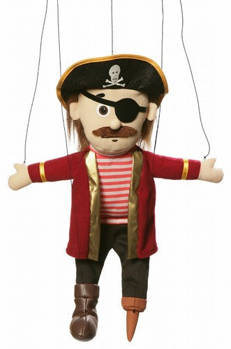 24 Pirate w Peg Marionette