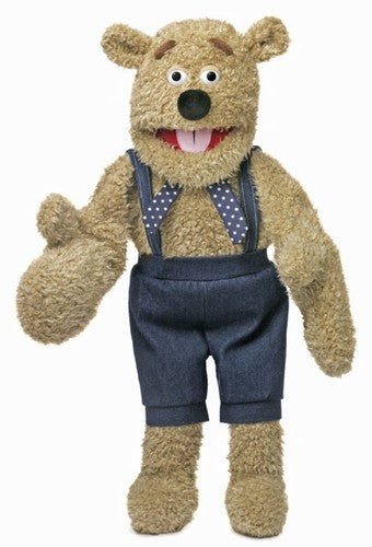 28 Silly Bear Puppet w Mittens Two Handed