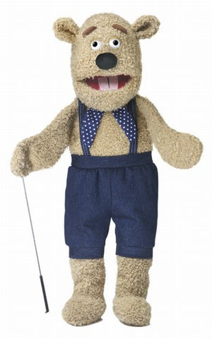 "28"" Silly Bear Puppet w/ Arm Rod - Peazz Toys"