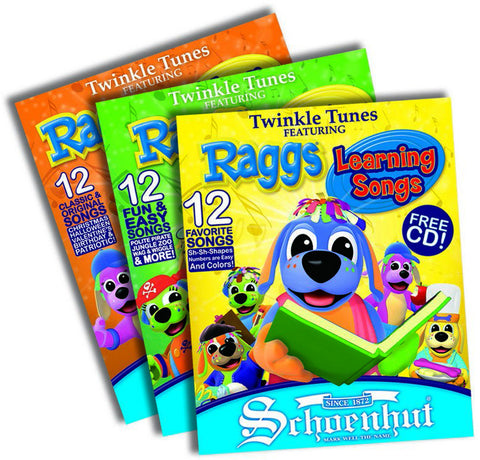 Schoenhut 4700 Raggs Book Set Multi - Peazz Toys