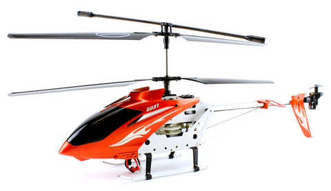 3ch Syma S031 RC Helicopter Metal Series with Gyro - Orange - Peazz Toys