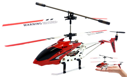 3ch Syma S107G Mini RC Helicopter Metal Series with Gyro - Red - Peazz Toys