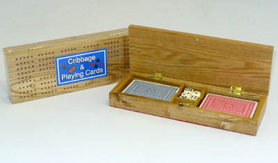 Cribbage Box with Cards SQ29 - Peazz Toys