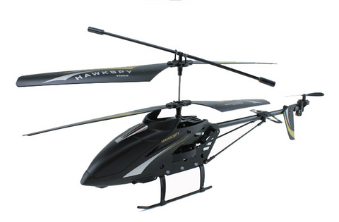 3.5ch Hawkspy LT-711 RC Helicopter with Gyro and Spycam - Black - Peazz Toys