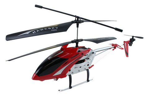 3.5ch Hawkspy LT-711 RC Helicopter with Gyro and Spycam - Red - Peazz Toys
