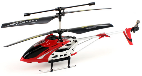 3.5ch Hawkspy LT-712 RC Helicopter with Gyro and Camera - Red - Peazz Toys