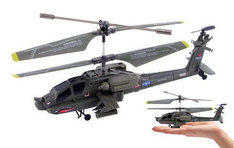 3.5ch Syma S109G Apache Mini RC Helicopter with Gyro - Peazz Toys