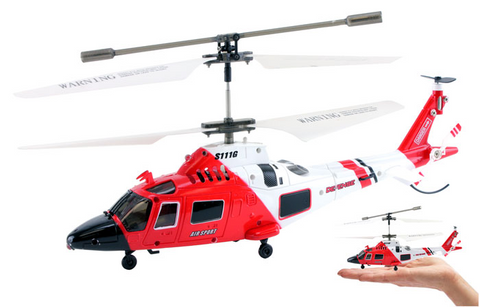3.5ch Syma S111G Mini US Coast Guard RC Helicopter with Gyro - Peazz Toys