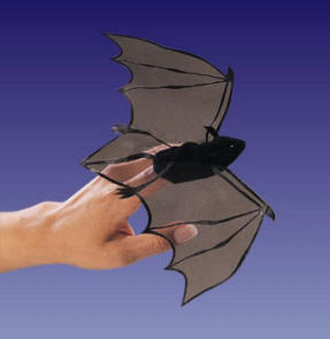 Folkmanis Mini Bat Finger Puppet - 2612 - Peazz Toys