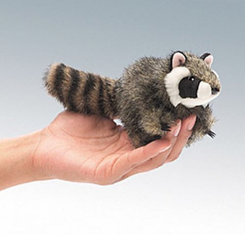Folkmanis Mini Raccoon Finger Puppet - 2646 - Peazz Toys
