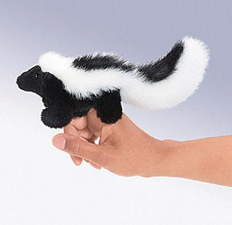 Folkmanis Mini Skunk Finger Puppet - 2647 - Peazz Toys