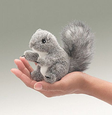 Folkmanis Mini Gray Squirrel Finger Puppet - 2648 - Peazz Toys