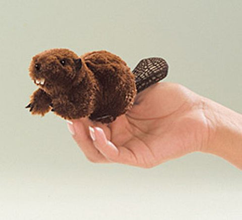 Folkmanis Mini Beaver  Finger Puppet - 2651 - Peazz Toys