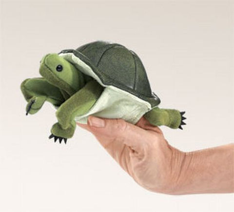 Folkmanis Mini Turtle Finger Puppet - 2732 - Peazz Toys