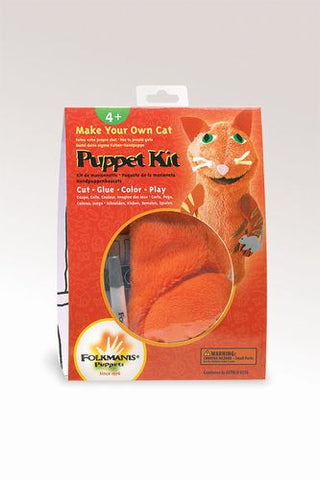 Folkmanis Kit Cat Puppet Kit  Puppet Kit - 2902 - Peazz Toys