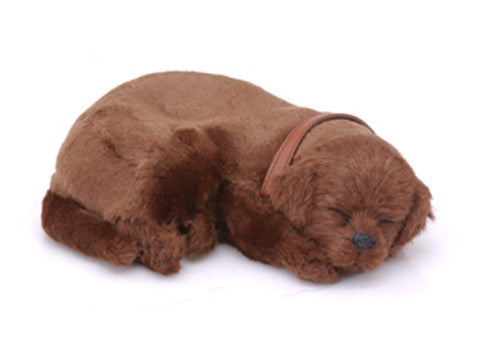 Furry Animal Kingdom Handmade Synthetic Breathing Dog - Chocolate Labrador DB900 - Peazz Toys