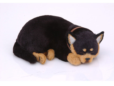 Furry Animal Kingdom Handmade Synthetic Breathing Dog - Black Chihuahua DB903 - Peazz Toys