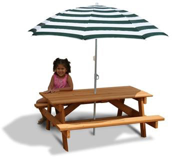 Umbrella | Children | Gorilla | Picnic | Table