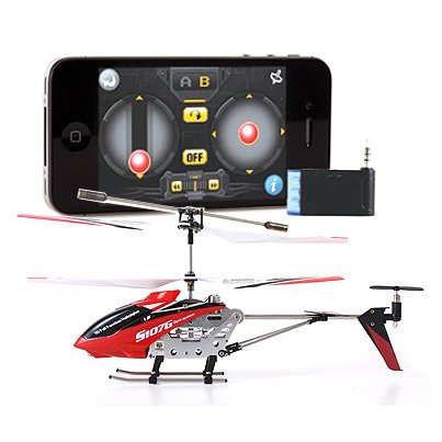 Iphone Ipad Controlled 3.5ch Syma S107G Mini RC I-Helicopter Metal Series with Gyro - Red - Peazz Toys