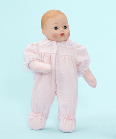 "Pink Check Huggums  - Caucasian - 12"" (29200) - Peazz Toys"