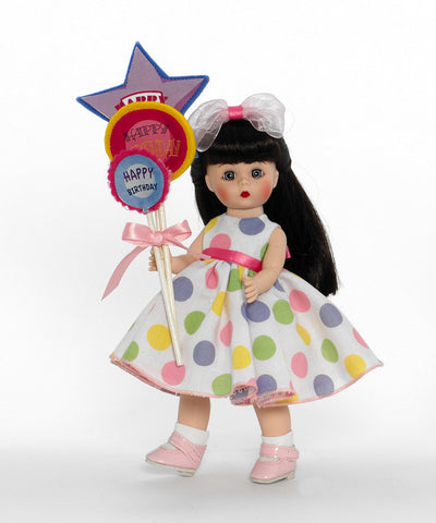 "Balloons For Your Birthday -Brunette - 8"" (64491) - Peazz Toys"
