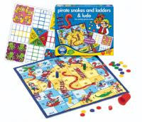 The Original Toy Company 040 PIRATE SNAKES & LADDERS Pirate Snakes & Ladders & Ludo 040 - Peazz Toys