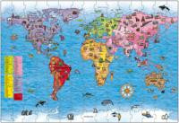 The Original Toy Company 280 WORLD MAP World Map Puzzle And Poster 280