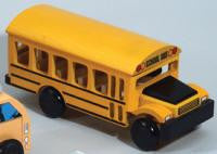 The Original Toy Company 54228 SCHOOL BUS TOWN TRUCK Wooden School Bus 54228