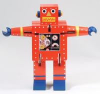 The Original Toy Company GA1234 ROBOT X-7 RED Robot X-7 Red - Peazz Toys