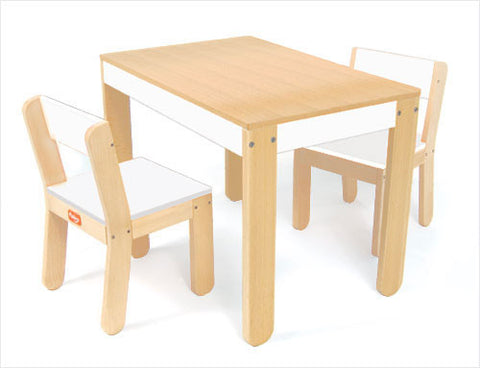 P'kolino Little One's Table and Chairs White PKFFTCWHT - Peazz Toys