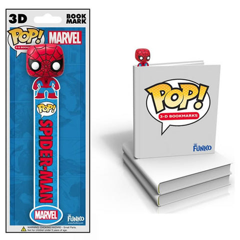 Funko FK029795 Pop! Marvel 3D Bookmark - Spiderman - Peazz Toys