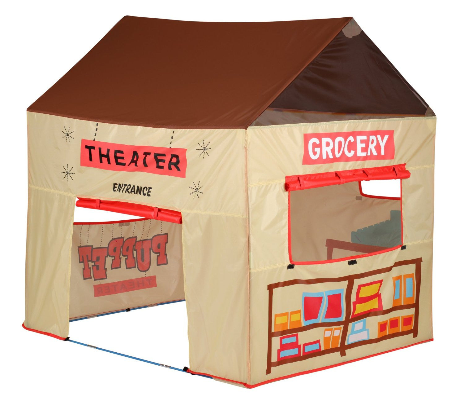 Pacific Play Tents 31405 Grocery/Puppet Theater Tent