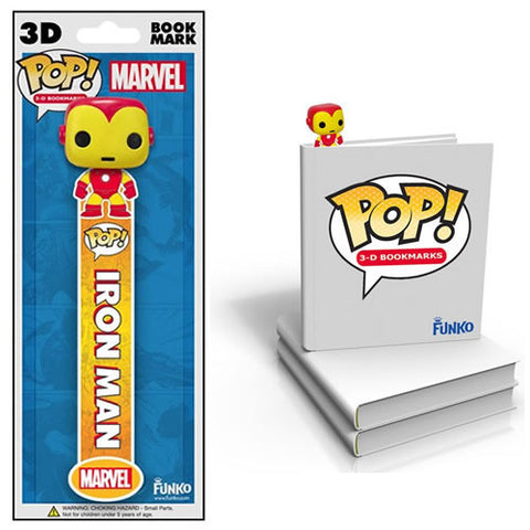 Funko FK029818 Pop! Marvel 3D Bookmark - Iron Man - Peazz Toys
