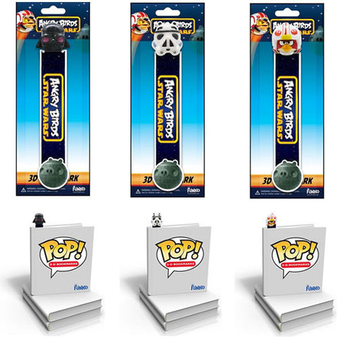 Funko FK030241 Pop! Angry Birds Star Wars 3D Bookmark Assortment - Peazz Toys