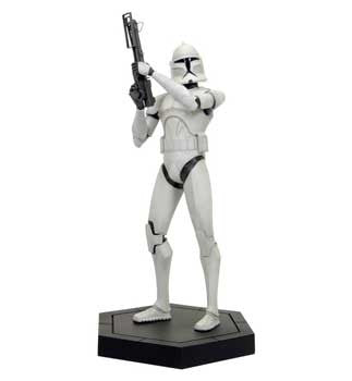 Gentle Giant Studios GG006793 Star Wars CW Maquette - White Clone Trooper - Peazz Toys