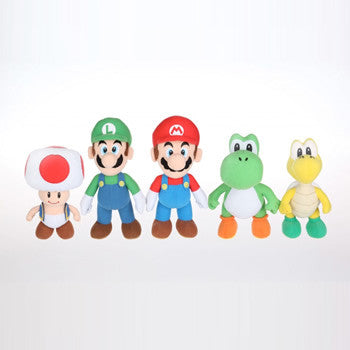 "Goldie Marketing GM003000 Super Mario 6"" Plush Assortment - Peazz Toys"