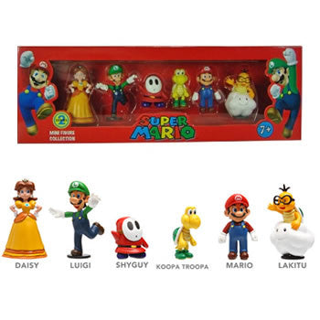 "Goldie Marketing GM003413 Super Mario 2"" Figure Collector 6-Pack - Series 2 - Peazz Toys"