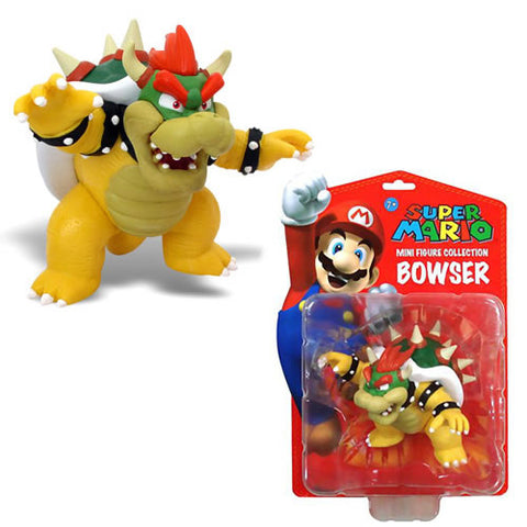 "Goldie Marketing GM003567 Super Mario 3"" Figure - Bowser - Peazz Toys"