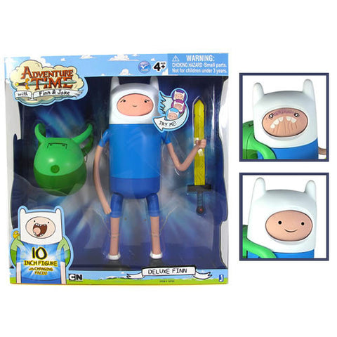 "Jazwares JW142300 Adventure Time - 10"" Super Posable Finn w/ Changing Faces Figure - Peazz Toys"